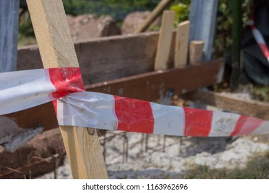 Barrier tape for safety at construction site;
