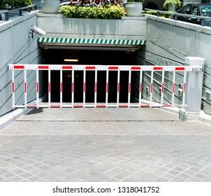 Barrier of a underground parking lot.