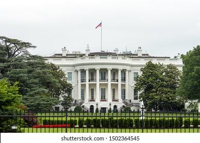 Barrieren und Fechten vor dem Weißen Haus in Washington DC