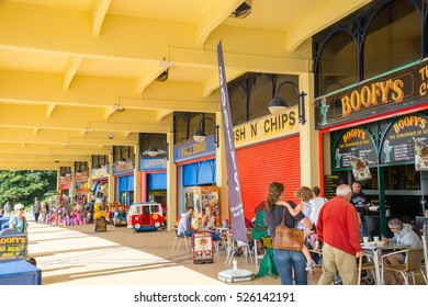 Barry Island,Wales - September 1, 2015:Entertainment Arcade at Barry Island, Wales,UK