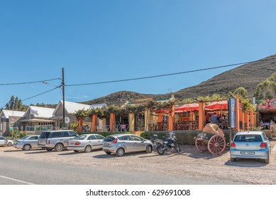 BARRYDALE, SOUTH AFRICA - MARCH 25, 2017: A A well known restaurant, the Country Pumpkin, in Barrydale, a small town on the scenic Route 62 in the Western Cape Province