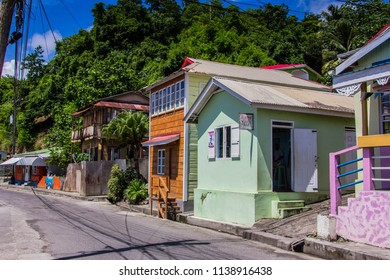 BARS OF ST LUCIA, ST LUCIA,WEST INDIESW-13th SEPTEMBER 2017:-the local watering hole, or bar is part of St Lucian life, locals gather to discuss local events, sport or play dominoes.