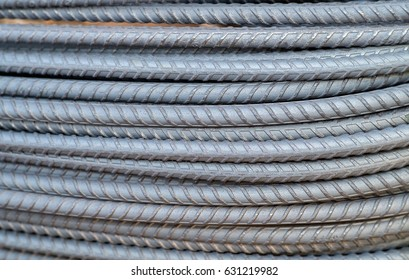 Re bars, Steel bars Construction. Fabricating retaining base reinforcement. Iron weld wire mesh for use base structure. Steel reinforcing rods with string. Work for infrastructure.