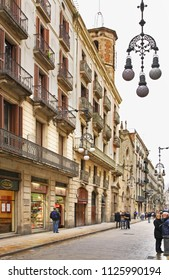 BARSELONA. SPAIN. 02 FEBRUARY 2009 : Gothic quarter in Barcelona. Spain