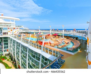 Barselona, Spaine - September 06, 2015: Royal Caribbean, Allure of the Seas