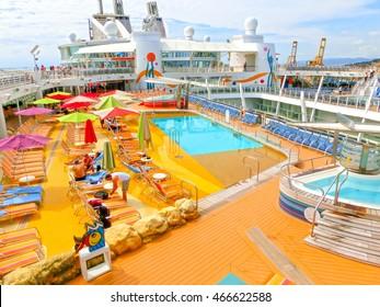 Barselona, Spaine - September 06, 2015: Royal Caribbean International, Allure of the Seas