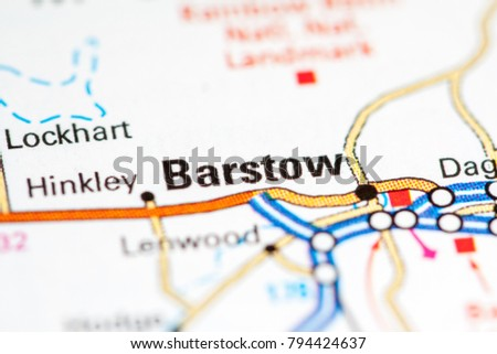 Barstow California Usa On Map Stock Photo Edit Now 794424637