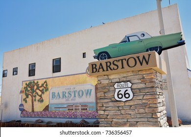 Barstow, Usa - July 26, 2017: Barstow City Limits sign in California.