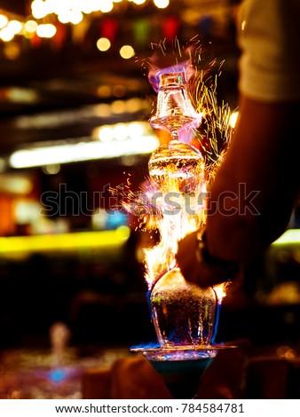 bartender lightning Lamborghini cocktail
