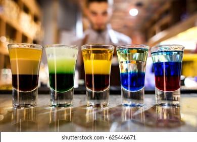 bartender made shots