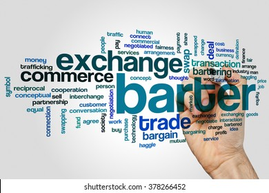 Barter word cloud concept