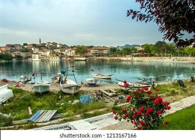 Bartin, Turkey, 22 May 2013: Fishing boats at Amasra