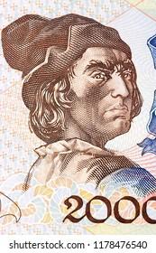 Bartolomeu Dias, a portrait from Portuguese money
