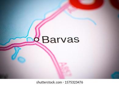 Barvas. United Kingdom on a map - Shutterstock ID 1575323476