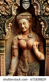 Bas relief at Banteay Srei temple