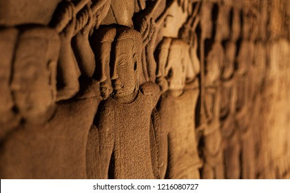 bas reliefs at Bayon temple