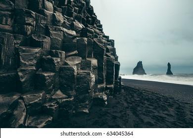 Basalt Columns, Black Sand Beach, Iceland, Vik