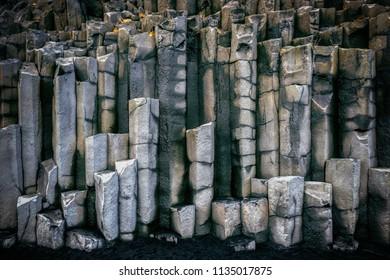 Basalt columns near Vik, Iceland.