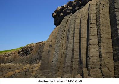 Basalt columns in Taiwan  Penghu