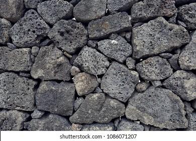 basalt wall in Jeju Island