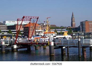 Bascule bridge in the port of Kiel in Germany