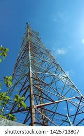 Base Transceiver Station (BTS) tower of cellular communication in yogjakarta