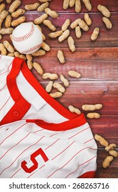 Baseball Background With Jersey And Ball