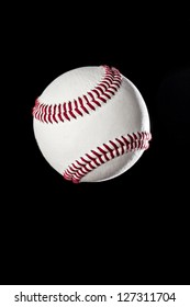 Baseball Ball closeup on a black Background
