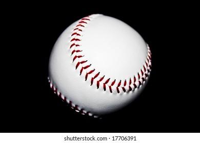 baseball ball isolated on black