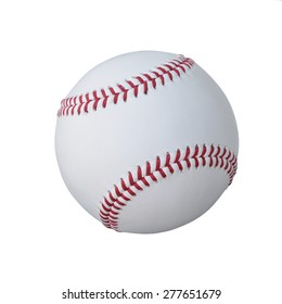 The Baseball ball standard hard cork inner size diameter 7.28 CM hand sewing made from leather and weight 130 - 150 grame, isolated on white background. This has clipping path.