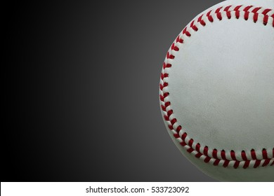 The Baseball ball standard hard cork inner size isolated on white background. This has clipping path.