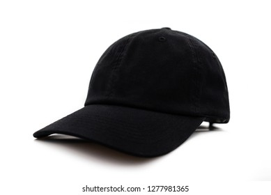 Baseball black cap isolated on white background. This has clipping path.