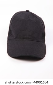 Baseball cap from jeans fabric isolated