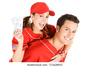 Baseball: Couple Excited to Have Tickets
