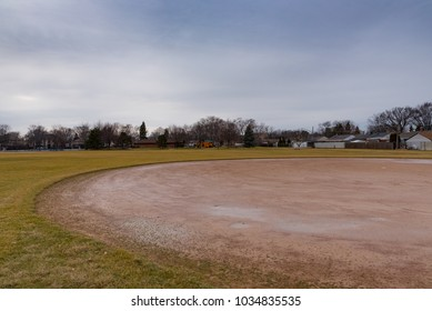 Baseball field in a Chicago suburban park