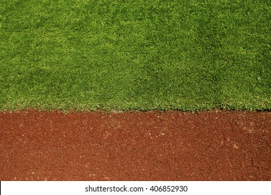 Baseball field with copy space.