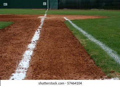 Baseball Field First Base Line
