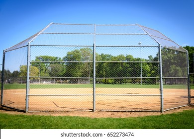 Baseball field at park with sunny day / With Copy Space