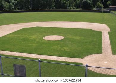 Baseball field in Summer