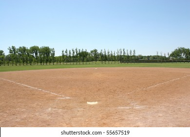 Baseball Field Under Blue Skies