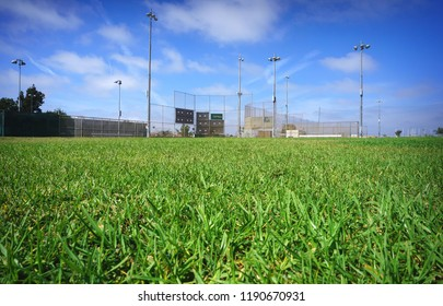 baseball field view from the outfield