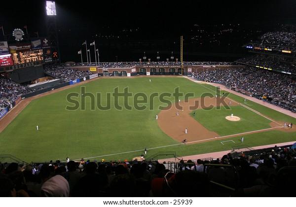 A baseball game.
