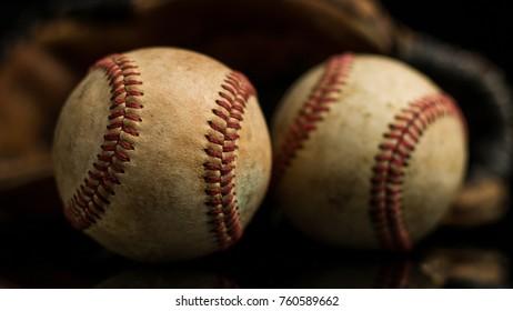 Baseball Glove And Balls