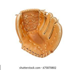 Baseball glove isolated on white background