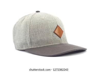 Baseball gray cap isolated on white background