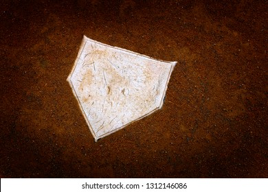 Baseball home plate base ball homeplate representing american sports competition