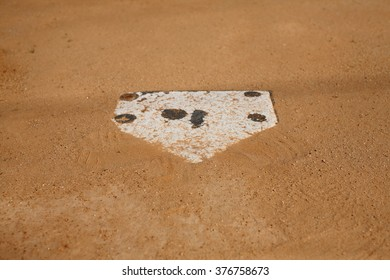 Baseball Home Plate Dirt Base