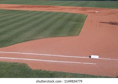 Baseball infield first base