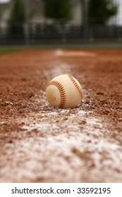 Baseball on the baseline