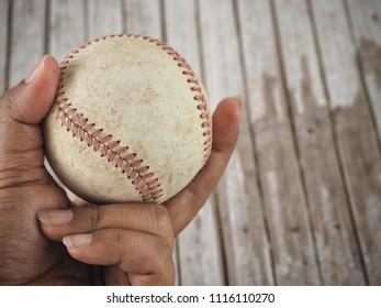 Baseball on hand